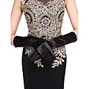 cheap Party Gloves-Cotton / Satin Wrist Length / Elbow Length Glove Charm / Stylish / Bridal Gloves With Embroidery / Solid