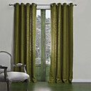 abordables Cortinas Opacas-cortinas cortinas Sala de estar Un Color Mezcla de Poliéster y Algodón