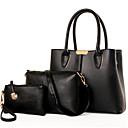 cheap Bag Sets-Women's Bags PU(Polyurethane) Bag Set Zipper / Flower Red / Beige / Fuchsia