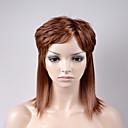 halpa Synteettiset peruukit ilmanmyssyä-Synteettiset peruukit Löysät aaltoilevat Synteettiset hiukset Ruskea Peruukki Naisten Lyhyt Suojuksettomat
