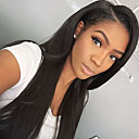cheap Human Hair Wigs-Human Hair Glueless Lace Front Lace Front Wig Straight Wig 130% Hair Density Natural Hairline African American Wig 100% Hand Tied Women's Long Human Hair Lace Wig