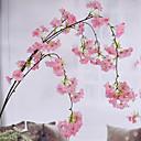 זול פרחים מלאכותיים-פרחים מלאכותיים 1 ענף פסטורלי סגנון סאקורה פרחים לקיר