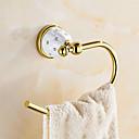 abordables Herramientas para Manicura y Pedicura-Soporte para Papel Higiénico Moderno Latón 1 pieza - Baño del hotel anillo de toalla