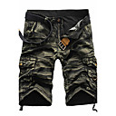 cheap DisplayPort Cables & Adapters-Men's Active Punk & Gothic Cotton Straight Shorts Pants - Camouflage Pleated