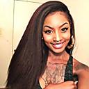 billige Syntetiske parykker uden hætte-Remy hår Helblonde Paryk Lige Kinky Glat 130% Massefylde 100 % håndbundet Afro-amerikansk paryk Natural Hairline Kort Medium Lang Dame
