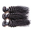 cheap Human Hair Weaves-Human Hair Remy Weaves Curly / Kinky Curly Brazilian Hair 300 g More Than One Year
