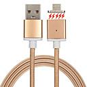 billige Kabler og Lader til mobiltelefon-USB 2.0 Flettet / Magnetisk Kabel Samsung / Huawei / LG til 100 cm Til Nylon / Metall