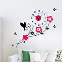 cheap Birthday Home Decorations-Pastoral Birds Flowers Mute Quartz Bedroom Child Watch Large Wall Clock Horloge Murale Reloj de Pared Wanduhr