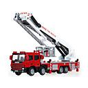 billige Toy Trucks & Construction Vehicles-KDW Brannbil Leketrucker og byggebiler Lekebiler Inntrekkbar Metallisk Plast ABS 1 pcs Barne Gutt Jente Leketøy Gave