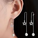preiswerte Modische Ohrringe-Kristall Kubikzirkonia Quaste Tropfen-Ohrringe - Klassisch Silber Für Hochzeit Party Alltag