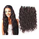 זול תוספות שיער בגוון טבעי-שזירה Remy  משיער אנושי גלי טבעי 400g יותר משנה אחת