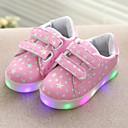 ieftine Pantofi Fetițe-Pantofi Piele de Porc Primăvară / Vară / Toamnă Confortabili / Primii Pași / Pantofi Usori Adidași Cârlig & Buclă / LED pentru Alb / Negru / Roz / TR
