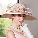 cheap Party Headpieces-Silk / Velvet Hats with 1 Wedding / Special Occasion Headpiece