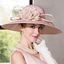 رخيصةأون قطع رأس-حرير / مخمل قبعات مع 1 زفاف / مناسبة خاصة خوذة