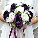 "cheap Wedding Flowers-Wedding Flowers Bouquets / Unique Wedding Décor Special Occasion / Party / Evening Satin 11.02""(Approx.28cm)"