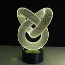 billige Mote Halskjede-1 stk 3D nattlys Fjernkontroll / Fargeskiftende / Liten størrelse Kunstnerisk / LED / Moderne / Nutidig