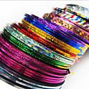 preiswerte Nagel-Funkeln-24 pcs Aufkleber Nagelfolie Striping Tape Kreativ Gestreift Nagel Kunst Maniküre Pediküre Alltag Schick & Modern / Modisch / Folien-Abziehband