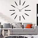 cheap Tattoo Power Supplies-1 PC NEW Best Wood Wall Clock Vintage Quartz Large Wall Watch Roman Numbers European Style Mordern Design Wall Clocks