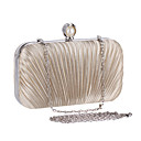 cheap Clutches & Evening Bags-Women's Bags Chiffon Evening Bag Ruffles Stripe Red / Aquamarine / Almond / Wedding Bags / Wedding Bags