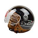 baratos Capacetes e Máscaras-beon b 110 motocicleta capacete meio capacete harley abs anti-fog anti-uv capacete de segurança moda unissex