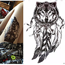 cheap Temporary Tattoos-Waterproof / 3-D / Tattoo Sticker Arm Temporary Tattoos 1 pcs Totem Series / Animal Series Body Arts