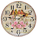 preiswerte Rustikale Wanduhren-Retro Wanduhr,Kreisförmig Holz Drinnen Uhr