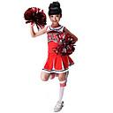 billige Dukkehuse-Cheerleader kostumer Spandex Uden ærmer Naturlig Skjørter Top