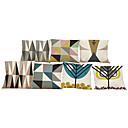 preiswerte Kissen Sets-7 Stück Leinen Kissenbezug, Solide Zitate & Sprüche Tierwelt Texture Neuheit Freizeit Strand Design Stützen Traditionell-Klassisch
