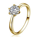 cheap Rings-Women's Crystal Ring - Crystal, Zircon, Cubic Zirconia Star Simple Style, Fashion 7 / 8 / 9 Gold For Party / Daily / Imitation Diamond / Austria Crystal / Alloy