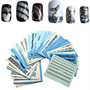 billige Negleklistremerker-50pcs/set Vannoverføringsklistre / Nail Sticker Blomst / Sexy dame / Nail Decals Nail Art Design