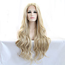 cheap Synthetic Capless Wigs-Synthetic Lace Front Wig Wavy / Natural Wave Synthetic Hair Heat Resistant / Natural Hairline Blonde Wig Women's Long Lace Front Wig
