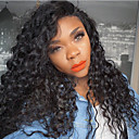 cheap Memory Cards-Human Hair Glueless Lace Front / Lace Front Wig Kinky Curly Wig Natural Hairline / African American Wig / 100% Hand Tied Women's Short / Medium Length / Long Human Hair Lace Wig