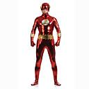 preiswerte Zentai Kostüme-Shiny Zentai Anzüge Superheld Zentai Kostüme Cosplay Kostüme Rot Patchwork Gymnastikanzug/Einteiler Zentai Kostüme Elasthan Unisex