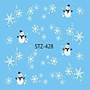 cheap 3D Nail Stickers-1pcs Nail Decals / Christmas Water Transfer Sticker / Christmas Ornaments / Nail Sticker Nail Art Design