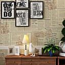 baratos Relógios de Parede Rústicos-Art Deco 3D Papel de Parede Para Casa Contemporâneo Revestimento de paredes , Outro Material adesivo necessário papel de parede ,