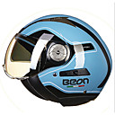 cheap Belly Dance Wear-BEON Half Face Street Motorcycle Helmet ABS Breathable Goggles Helmet Blue Color