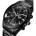 Недорогие Армейские часы-BOSCK Муж. Армейские часы Наручные часы Кварцевый Нержавеющая сталь Черный 50 m Светящийся Фосфоресцирующий Cool Аналоговый Кулоны На каждый день Мода - Черный Серый Розовый / Два года / Два года