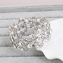 cheap Clutches & Evening Bags-Crystal Bracelet Bangles - Leaf Natural Bracelet Silver For Wedding / Party
