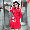 billige Mote Halskjede-Skjortekrage Skjorte - Art Deco, Blomster stil Dame