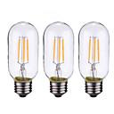 baratos Lâmpadas Filamento de LED-ONDENN 3pçs 4 W 500-600 lm B22 / E26 / E27 Lâmpadas de Filamento de LED 4 Contas LED COB Regulável Branco Quente 220-240 V / 110-130 V / 3 pçs / RoHs / CE