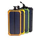 Недорогие Солнечные LED панели-солнечная батарея водонепроницаемый 16000 мАч солнечное зарядное устройство с двумя портами usb внешнее зарядное устройство powerbank для смартфона со светодиодной подсветкой