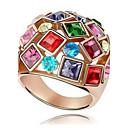 baratos Anéis-Mulheres Anel de declaração - Zircão, Liga Fashion, Colorido, Festival / Celebração 6 / 7 / 8 Dourado Para Casamento / Festa / Aniversário