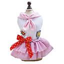 billige Rubiks kuber-Hund Kjoler Hundetøj Sømand Blå Lys pink Bomuld Kostume For kæledyr Klassisk Sødt Mode