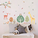 preiswerte Wand-Sticker-Tiere Cartoon Design Botanisch Wand-Sticker Flugzeug-Wand Sticker Dekorative Wand Sticker, Vinyl Haus Dekoration Wandtattoo Glas /