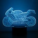 baratos Novidades em Iluminação-1 Pça. Luz noturna 3D Cores Múltiplas USB Sensor Regulável Impermeável Cores Variáveis