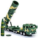 billige Toy Trucks & Construction Vehicles-KDW Militærkjøretøy Missile Truck Leketrucker og byggebiler Lekebiler 1:64 Metallisk Plast Barne Gutt Jente Leketøy Gave