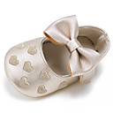 cheap Baby Shoes-Girls' Shoes Leatherette Spring / Fall First Walkers Flats Bowknot / Hook & Loop for Kid's Green / Blue / Pink / Wedding