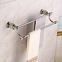 baratos Toalheiros-Barra para Toalha Modern Metal 1 Pça. - Banho do hotel Bar de 2 torres Montagem de Parede