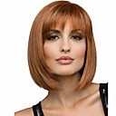 cheap Synthetic Capless Wigs-popular brown color straight wigs european synthetic wigs