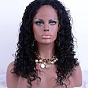 billige Syntetiske parykker uden hætte-Menneskehår Blonde Front Paryk Kinky Curly 150% Massefylde 100 % håndbundet Afro-amerikansk paryk Natural Hairline Kort Medium Lang Dame